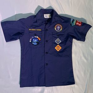 Boy Scouts of America Navy button up t-shirt